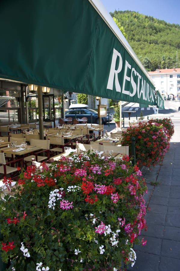 Restaurant français photographie stock libre de droits