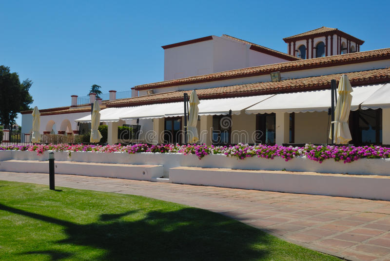 Download Restaurant golf stock image. Image of cortijo, flowers - 25364963