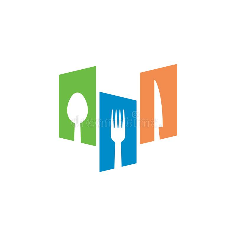 Restaurant graphic design template vector isolated. Logo, cafe, spoon, fork, utensil, food, icon, cafeteria, organic, cartoon, yummy, vintage, company, shop vector illustration