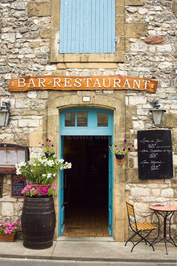 Restaurant in het gebied Dordogne van Frankrijk royalty-vrije stock foto