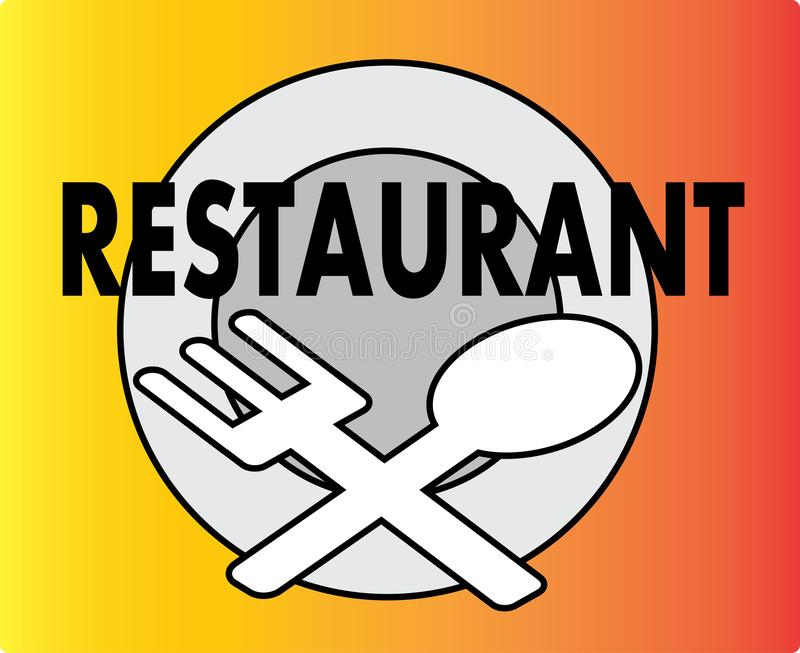 Restaurant Icon or Logo Illustration Image. Restaurant Icon Logo Illustration. restaurant is a place or building that is commercially organized, which organizes royalty free illustration