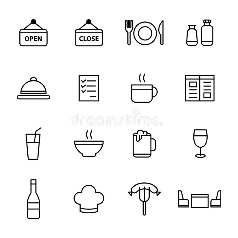 Restaurant icon set. Suitable for info graphics, websites and print media royalty free illustration