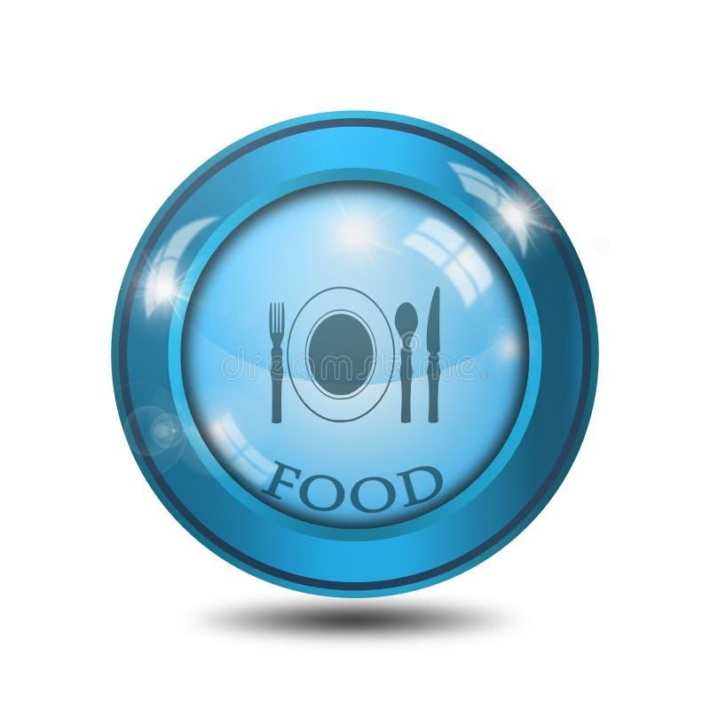 Restaurant icon, sign, illustration royalty free stock photos