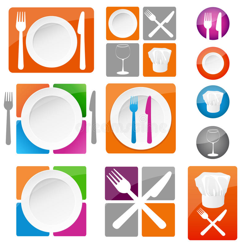 Restaurant icons stock illustration