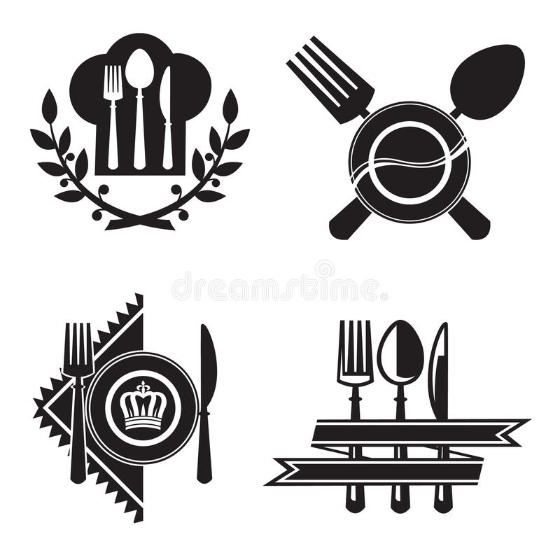Download Restaurant icons stock vector. Illustration of sign, gourmet - 27787344