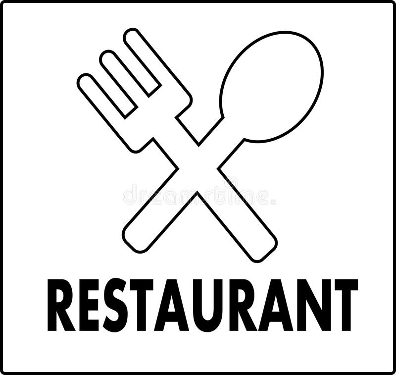 Restaurant illustration Icon or Logo. Estaurant is a place or building that is commercially organized, which organizes. Good service to all guests in the form stock illustration