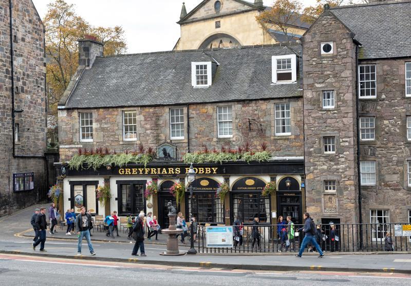 Restaurant im Altbau in Edinburgh stockbild