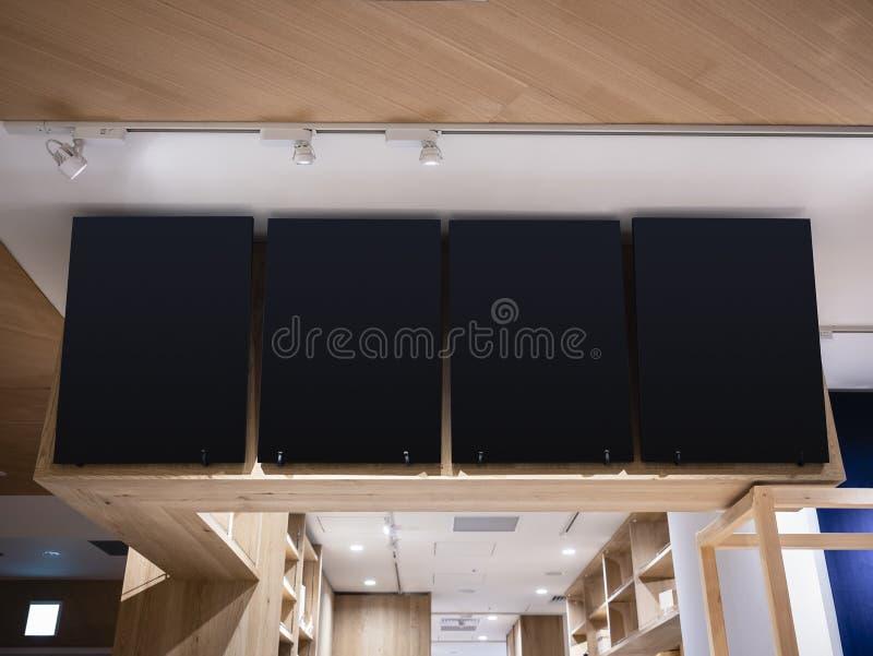 Restaurant intérieur de café de calibre de menu de tableau noir de signe de magasin photographie stock libre de droits