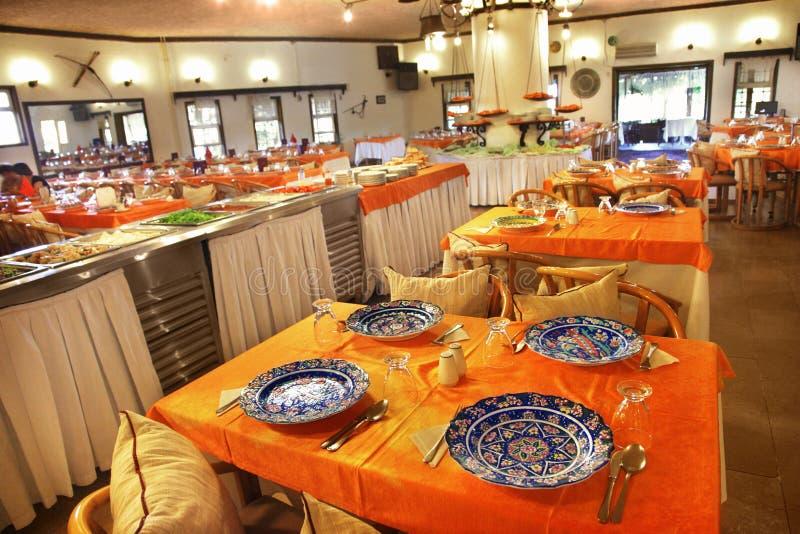 Restaurant interior stock image of dining food