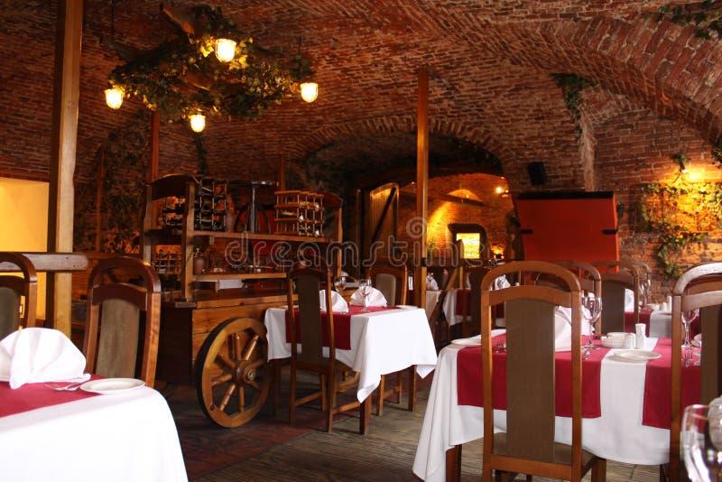 Restaurant interior. Breakfast business cafe club dinner drink eat stock photos