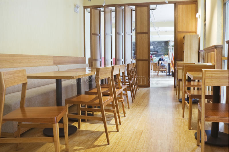 Download Restaurant interior stock photo. Image of chairs, moving - 14854134