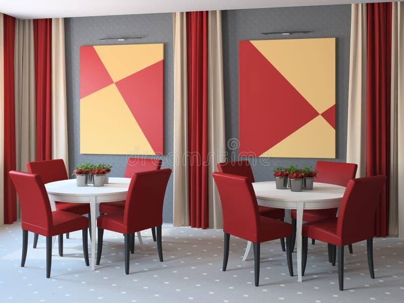 Restaurant interior. royalty free illustration