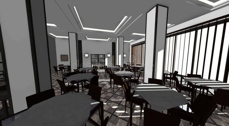 Restaurant interior vector illustration