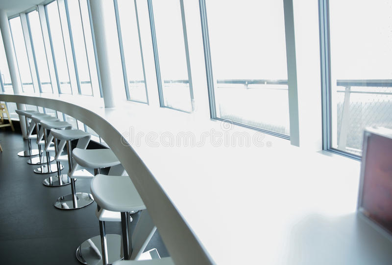 Restaurant interior with bar table and chairs royalty free stock photos