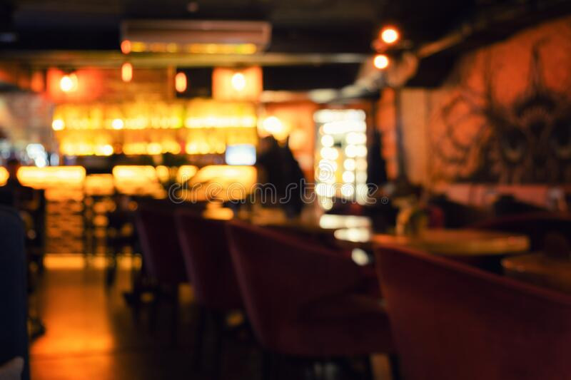 Restaurant interior blurred background. Restaurant interior blurred abstract defocused background royalty free stock images