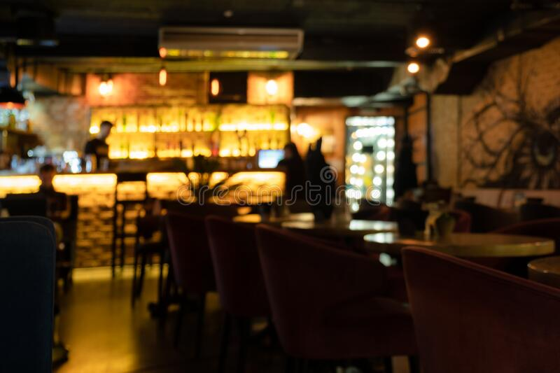Restaurant interior abstract defocused background. Restaurant interior abstract defocused blurred background stock photography