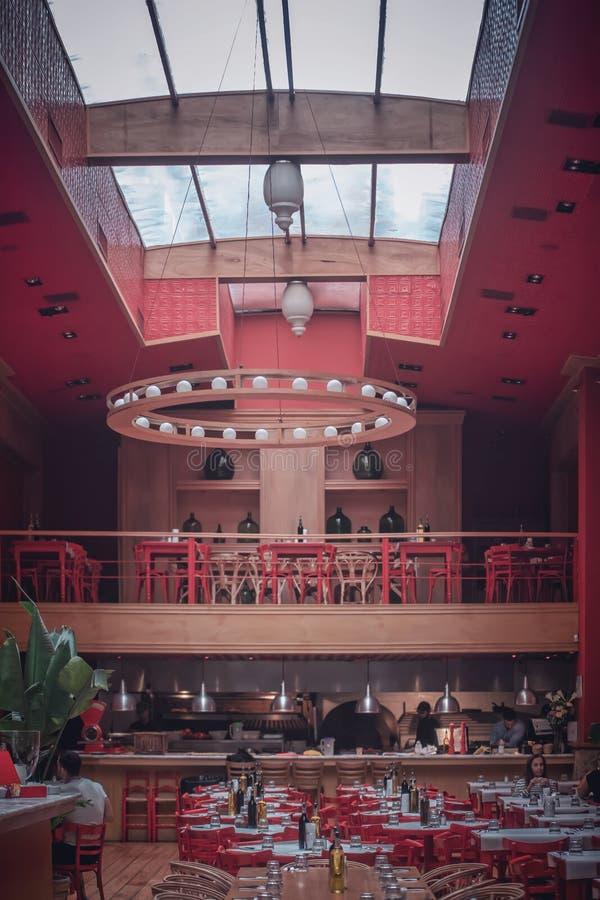 Restaurant Interior. BUENOS AIRES, ARGENTINA - Oct 10, 2019: Restaurant Interior in Buenos Aires stock photo