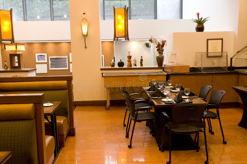 Restaurant interior lighting stock photo