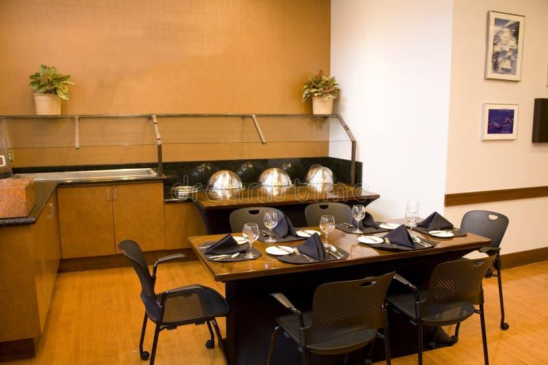 Restaurant interior lighting stock images