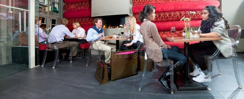 Restaurant interior panorama royalty free stock photo