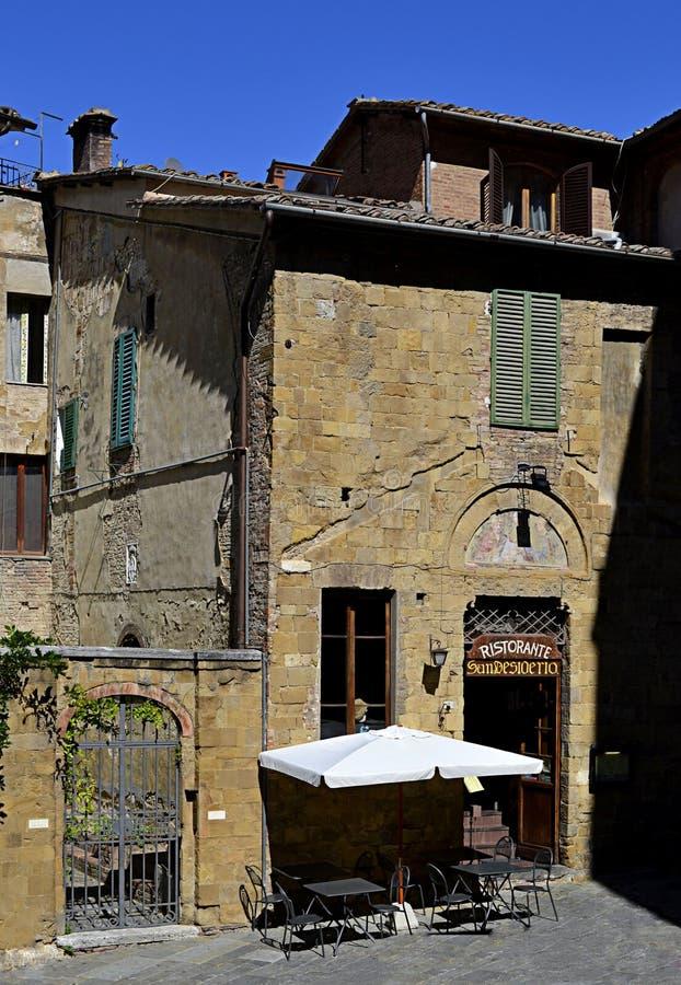 Restaurant in Italië stock afbeeldingen