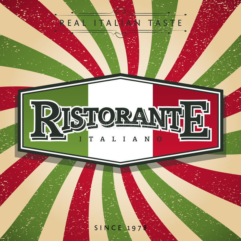 Restaurant italien illustration stock