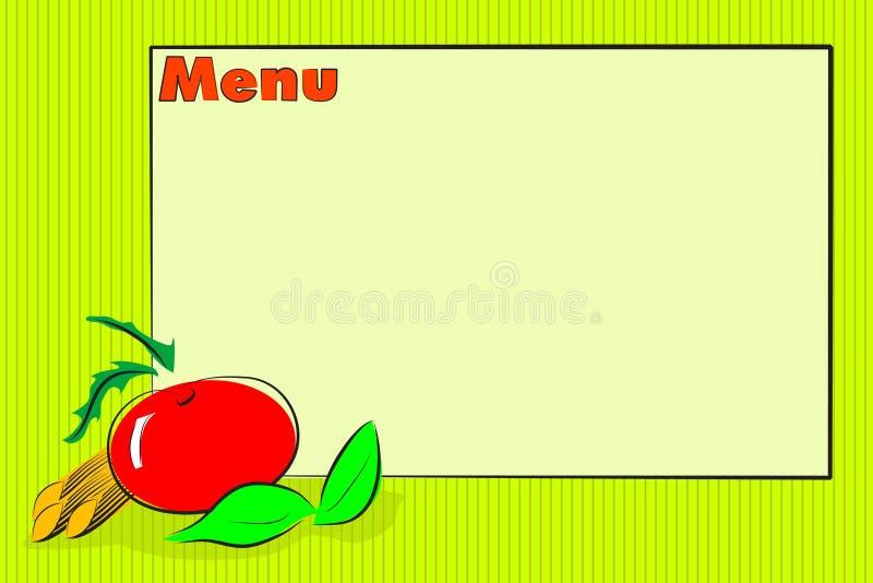 restaurant italien de carte de nourriture illustration de vecteur
