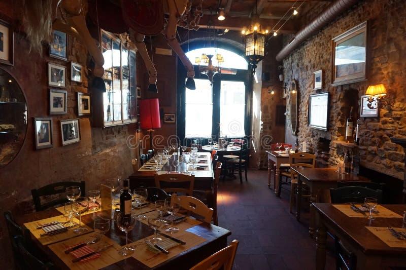 Restaurant italien typique, Florence images stock