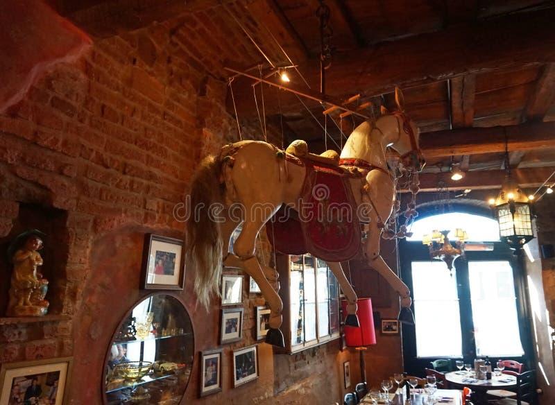 Restaurant italien typique, Florence photographie stock libre de droits