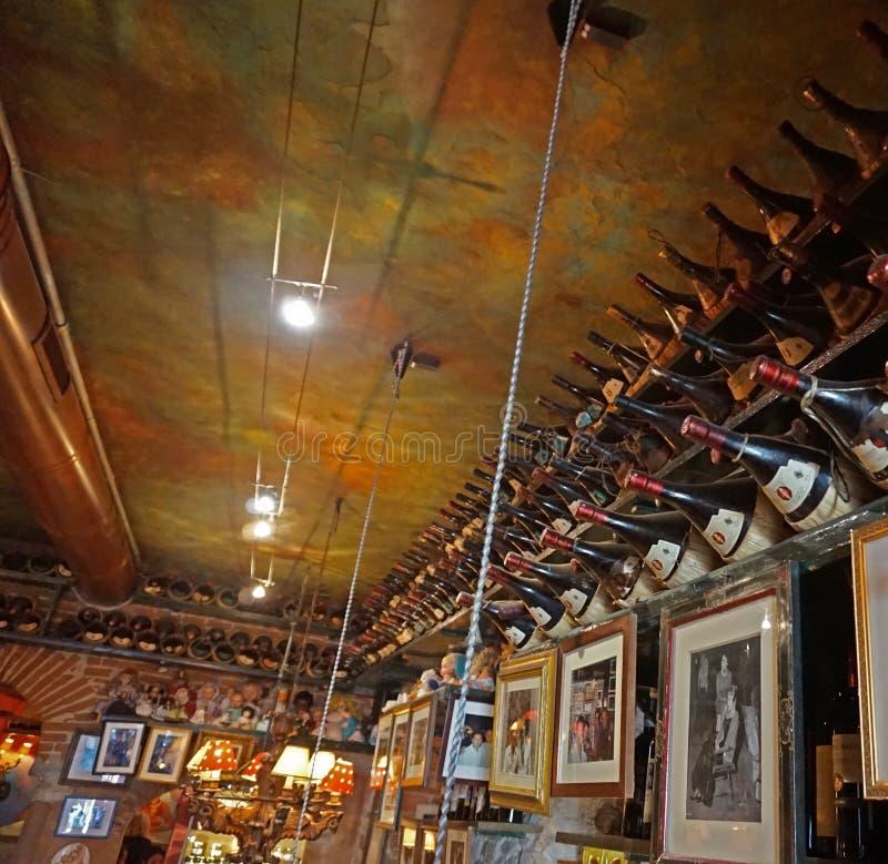 Restaurant italien typique, Florence photos libres de droits