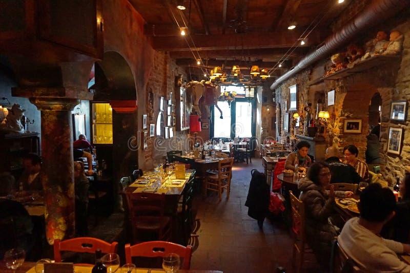 Restaurant italien typique, Florence image libre de droits
