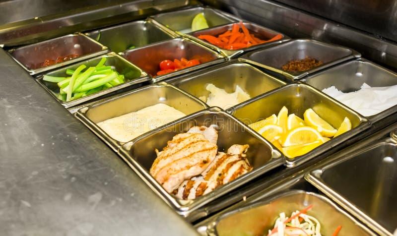 Restaurant Kitchen Layout stock photo