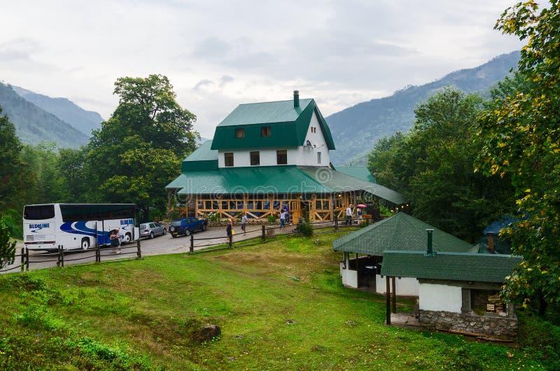Restaurant in Kolasin, Montenegro lizenzfreies stockfoto
