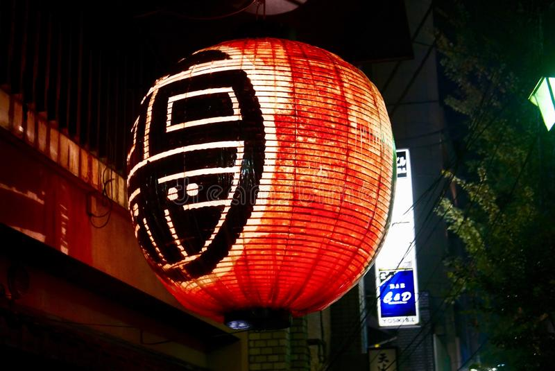 Restaurant lantern at nighttime stock photos