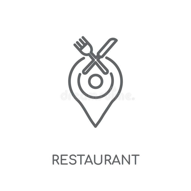 Restaurant linear icon. Modern outline Restaurant logo concept o royalty free illustration