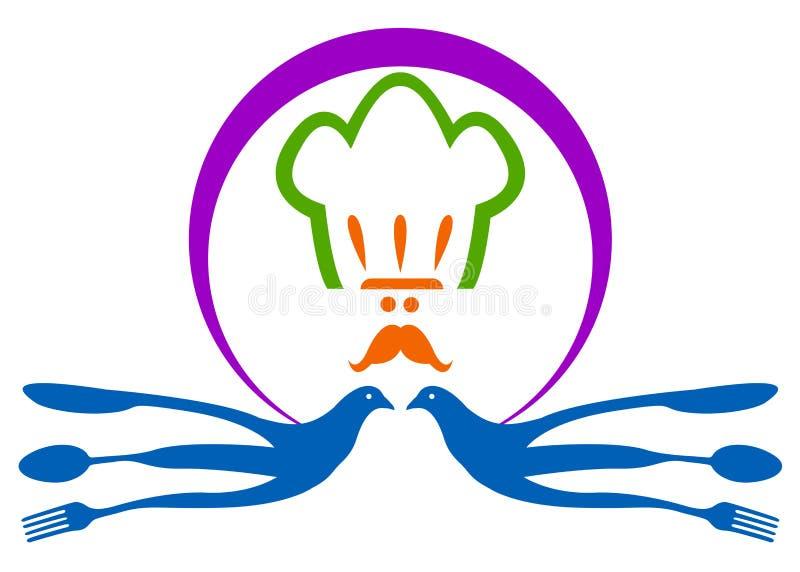 Restaurant logo. Illustration of restaurant logo design isolated on white background stock illustration