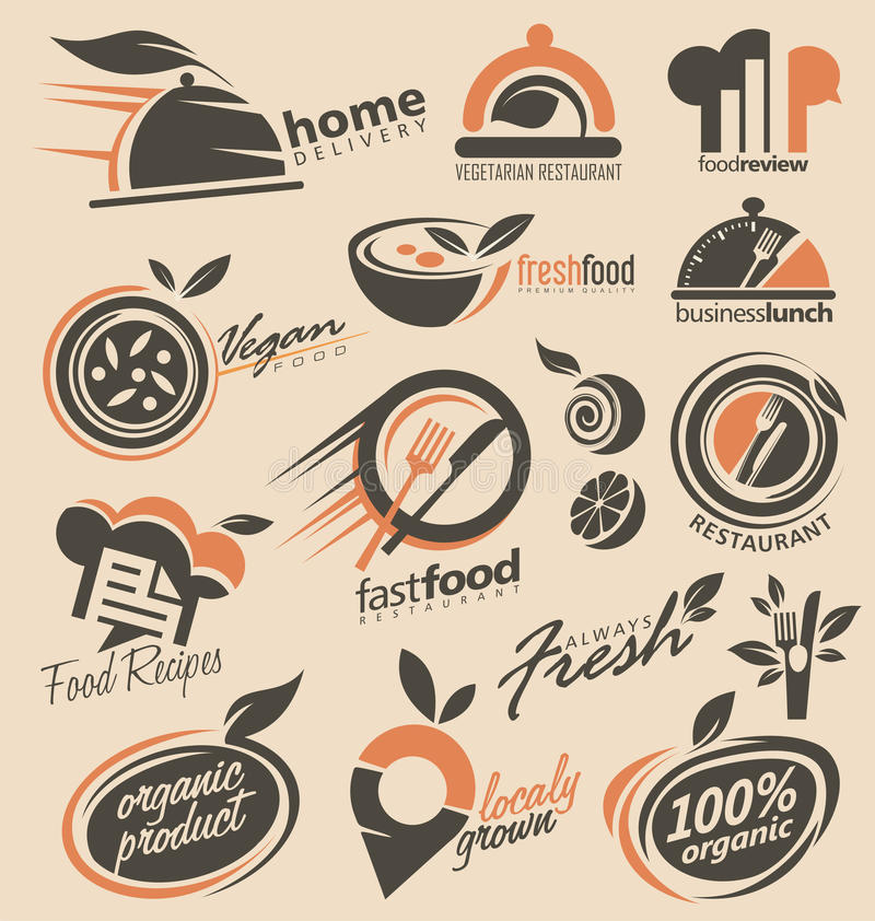 Restaurant Logo Design Collection Stock Vector - Illustration of ...