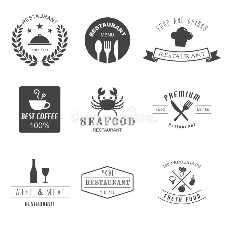 Restaurant logo stock illustration
