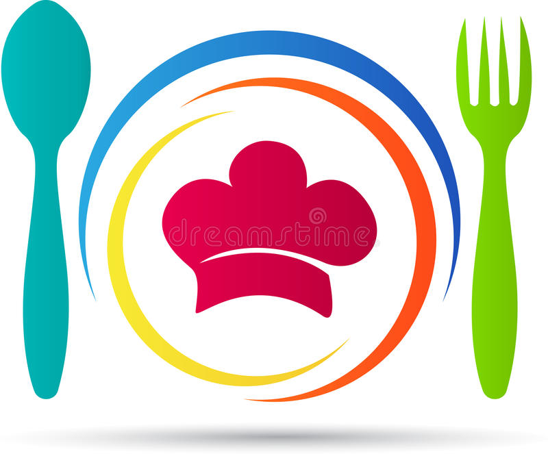 Restaurant logo. A vector drawing represents restaurant logo design stock illustration