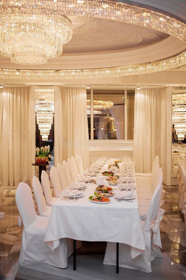 Restaurant luxueux images libres de droits