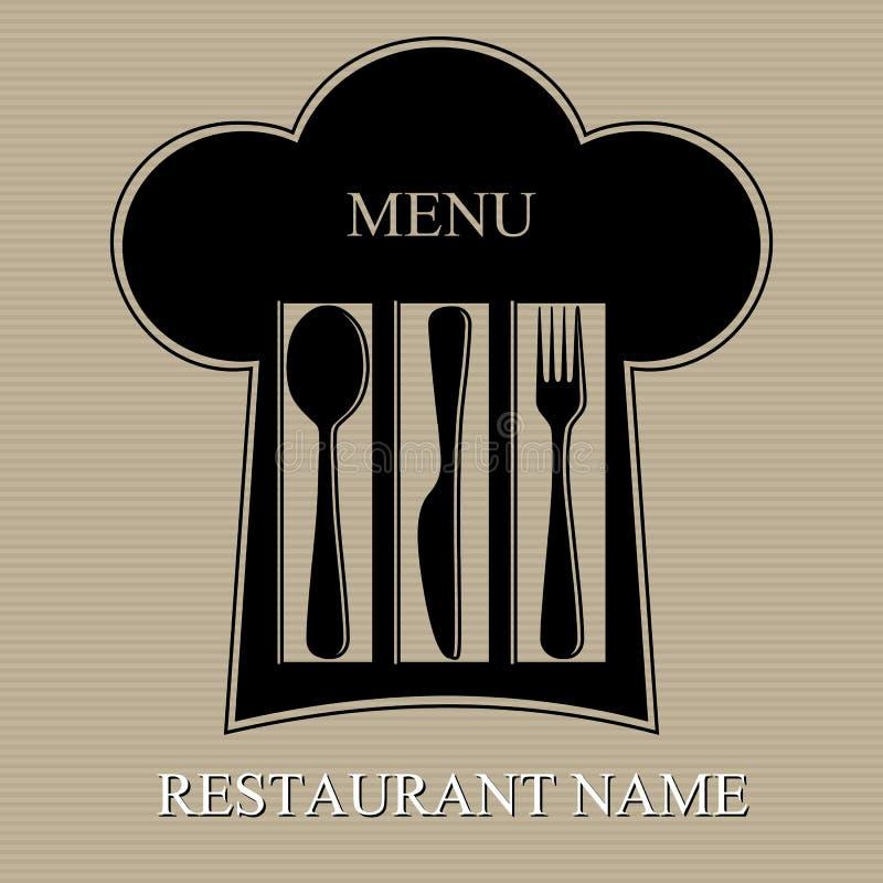 Download Restaurant menu stock vector. Image of spoon, frame, black - 19029591