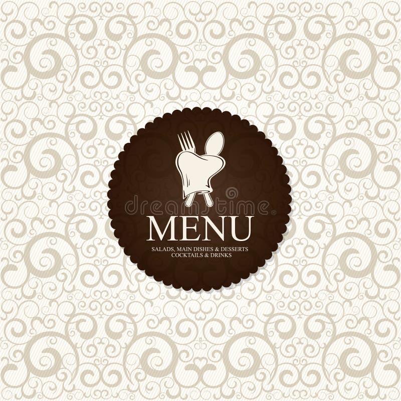 Restaurant menu royalty free illustration