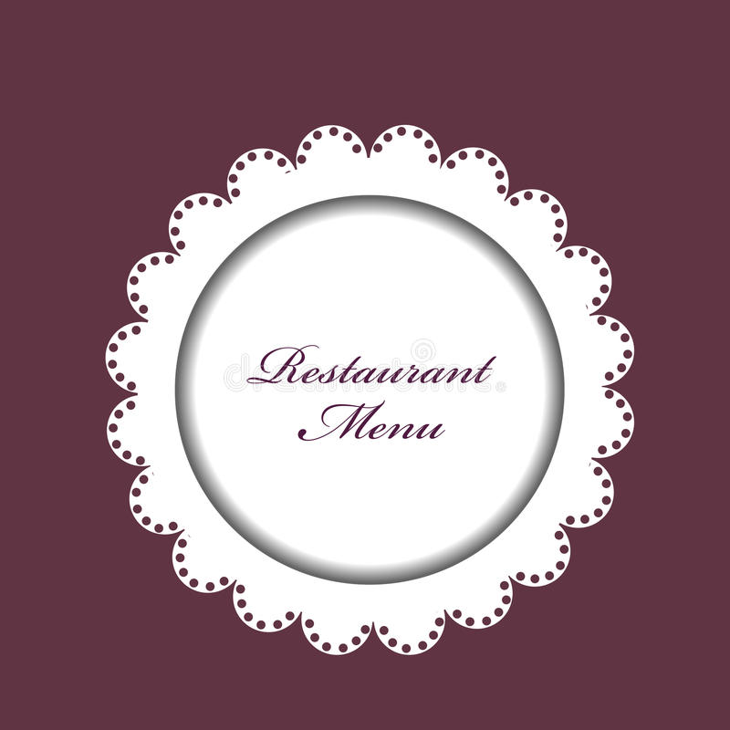 Restaurant menu background vector illustration