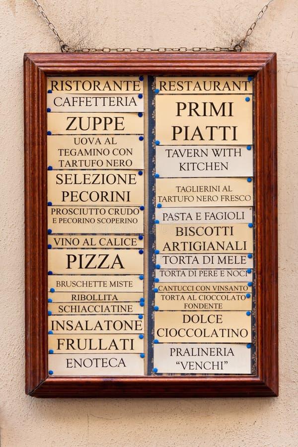 Download Restaurant Menu Board Royalty Free Stock Photo - Image: 25579415