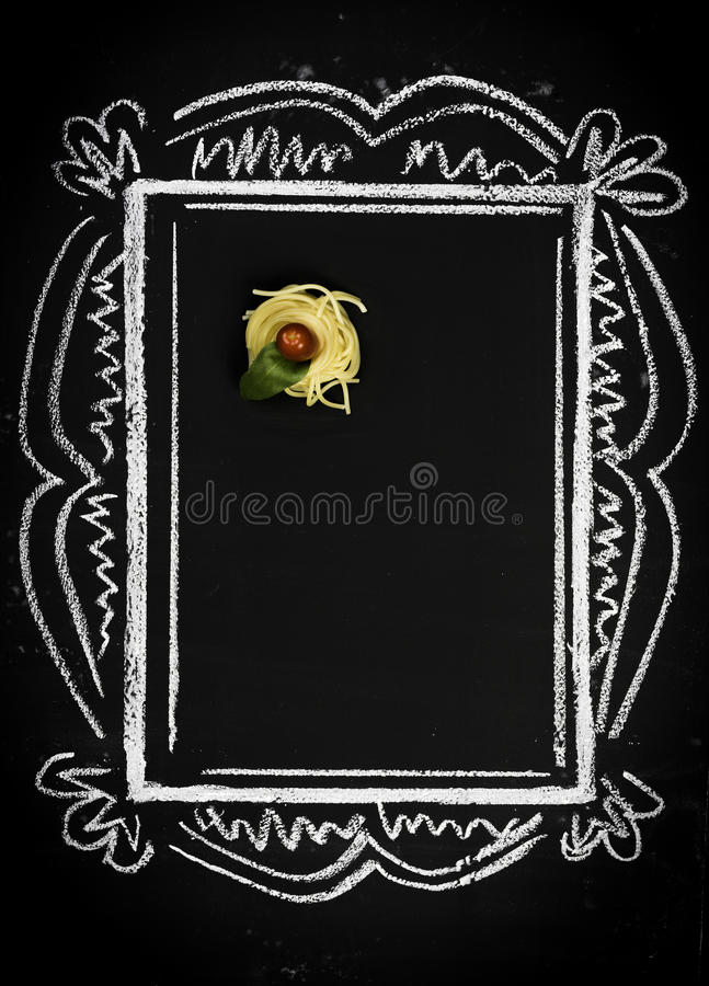Restaurant menu on chalkboard royalty free stock photos