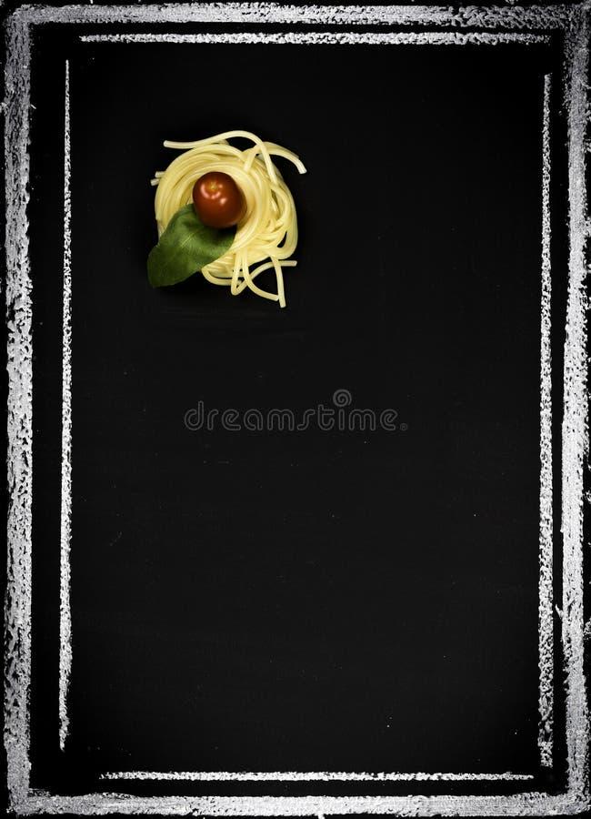 Restaurant menu on chalkboard royalty free stock photo
