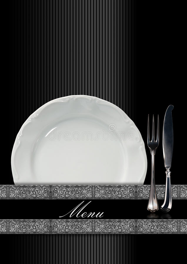Restaurant Menu Design royalty free illustration