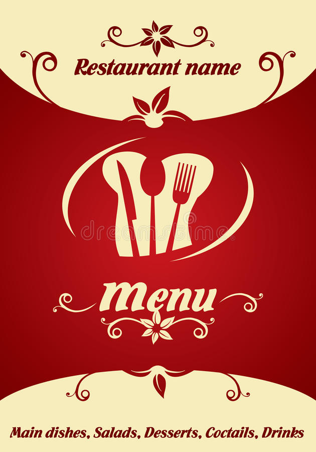 Download Restaurant menu design stock vector. Illustration of background - 31587636