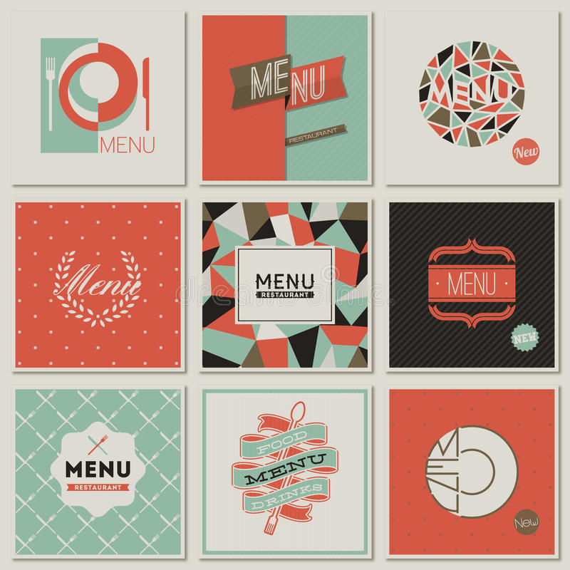 Restaurant menu designs retro styled vectors stock vector