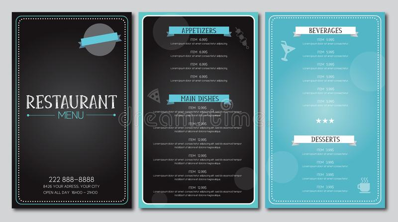 Restaurant Menu Flyer Template Design Vector Stock Vector